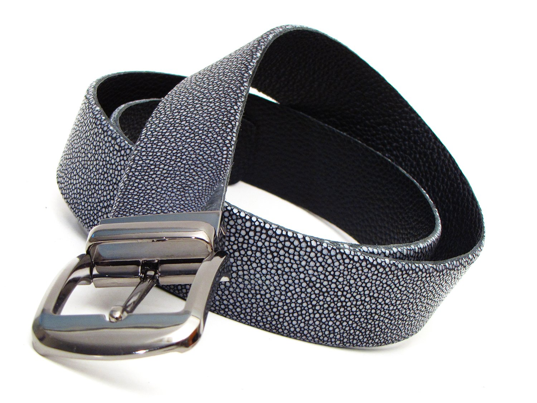 snakeskin PAUL PARKMAN Men/'s Black Genuine Python Belt ID#B03-BLK